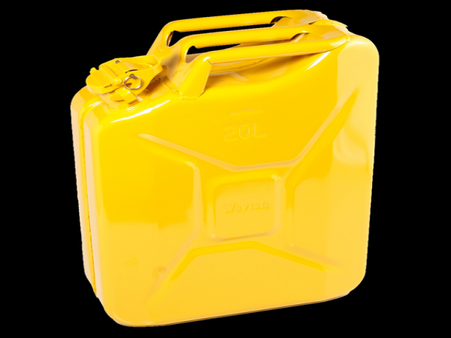 Yellow fuel can