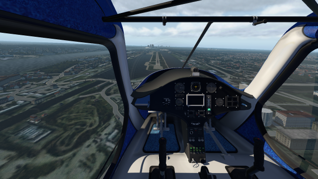 Superb visibility from Cockpit