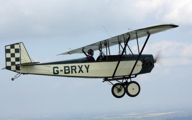 G-BRXY in flight