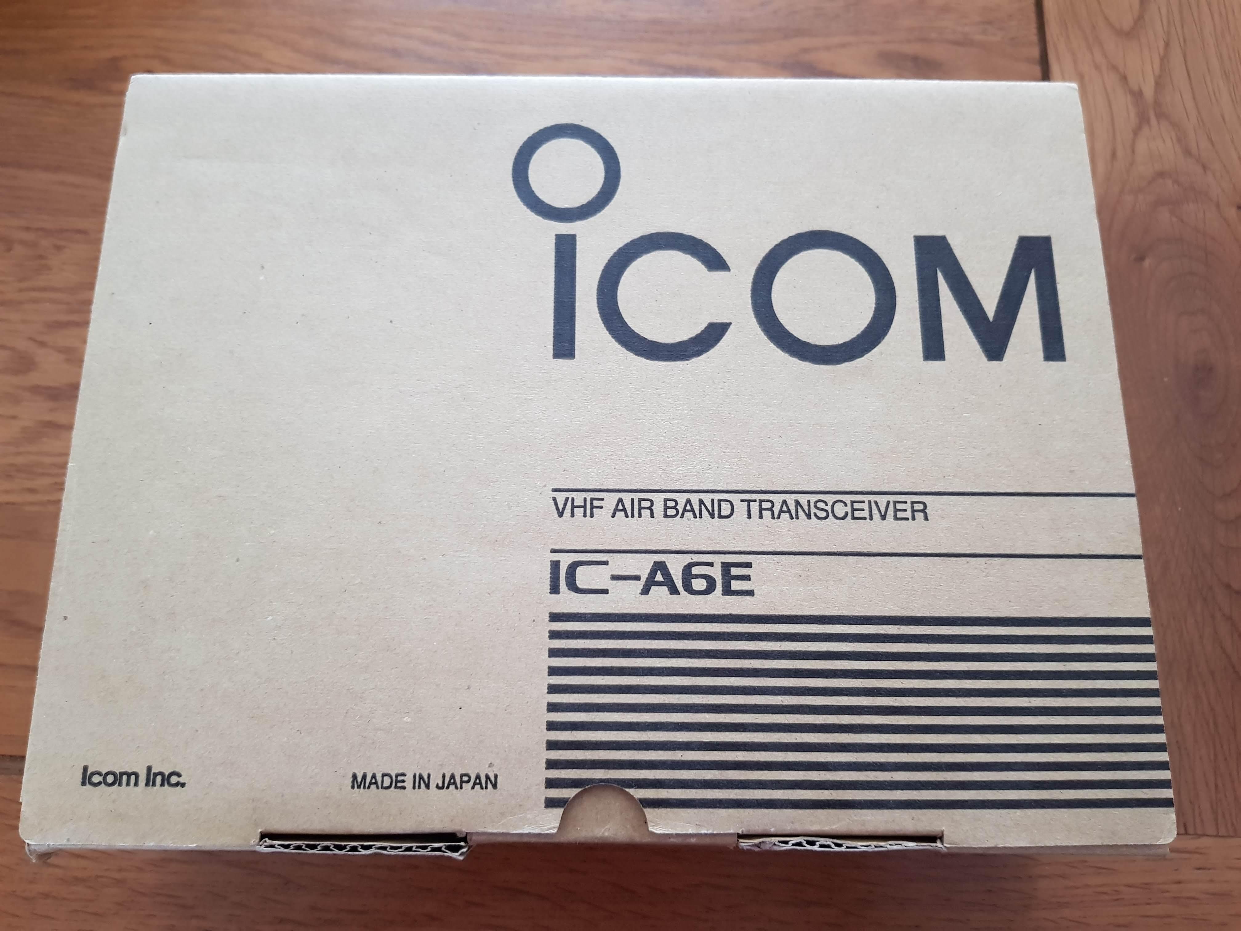 Icom IC-A6E - Transmitter receiver VHF Air Band Radio