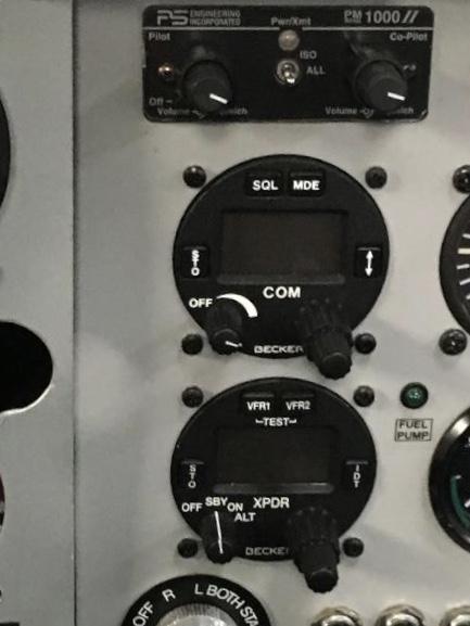 Becker AR 4201 radio and Becker ATC 4401 transponder | afors