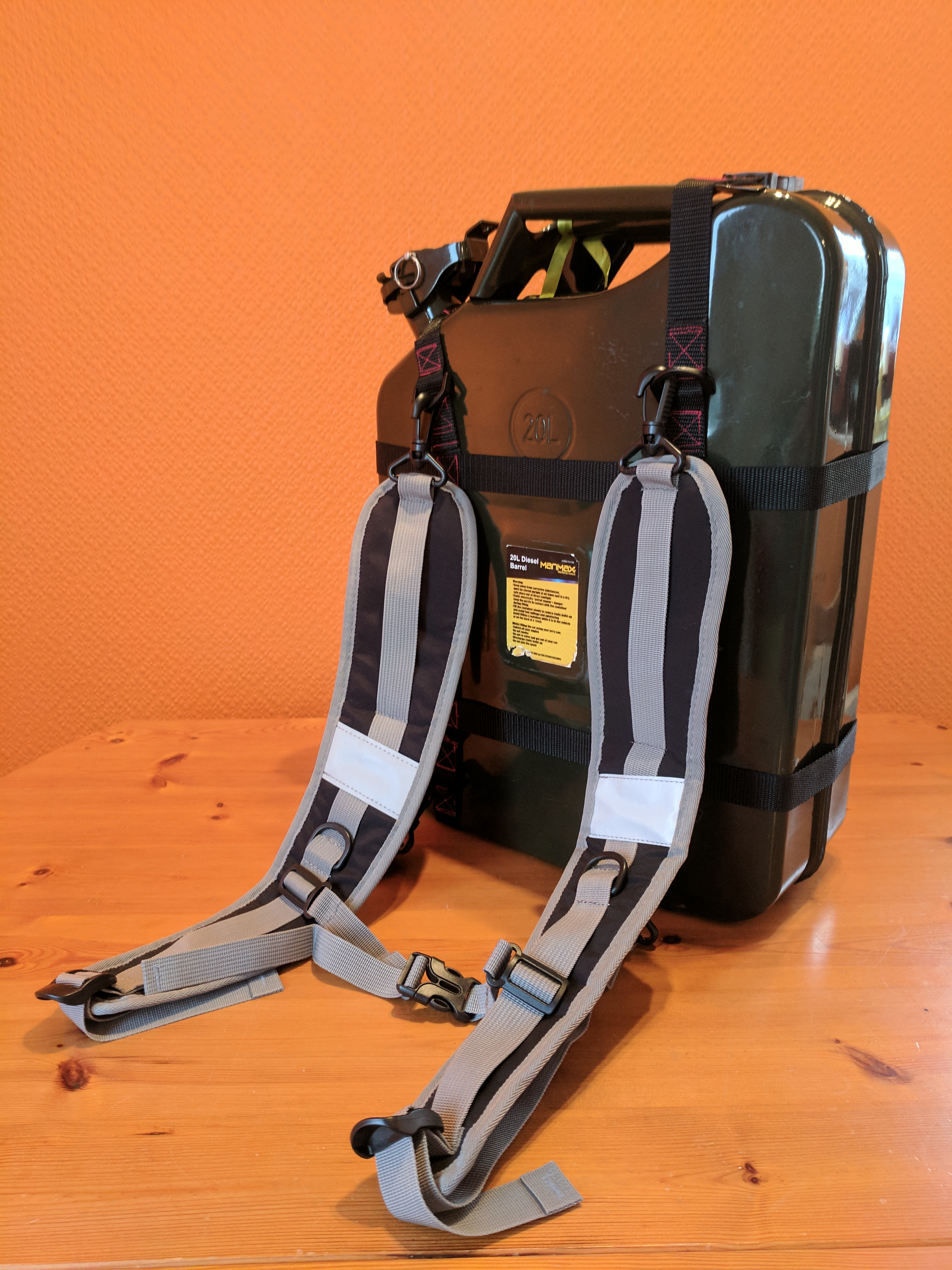 Welcome Back Jerry >> The Jerry Carry, Lightweight Jerry Can Carrier Backpack | afors advert No41416